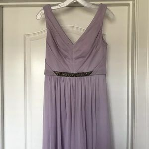 David's Bridal, short mesh dress, Iris, size 6